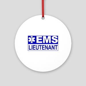 EMS Lieutenant Ornament (Round)