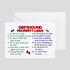 Greyhound Property Laws 2 Greeting Cards (Pk of 10