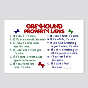 Greyhound Property Laws 2 Postcards (Package of 8)