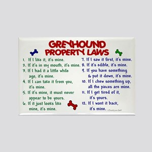 Greyhound Property Laws 2 Rectangle Magnet