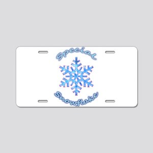 Special Snowflake Aluminum License Plate