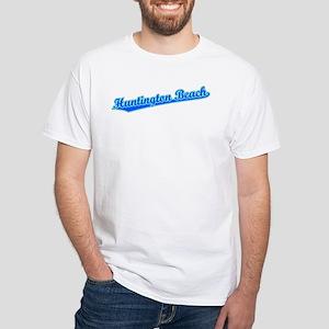 Retro Huntington B.. (Blue) Women's Dark T-Shirt