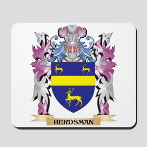 Herdsman Coat of Arms (Family Crest) Mousepad