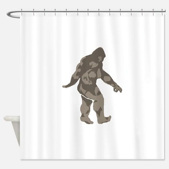 Bigfoot circle game 2 Shower Curtain