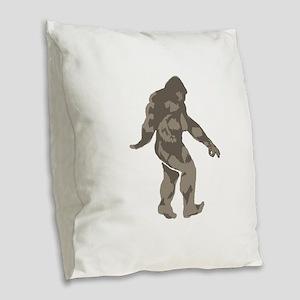 Bigfoot circle game 2 Burlap Throw Pillow