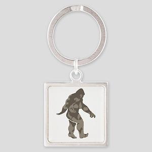 Bigfoot circle game 2 Square Keychain