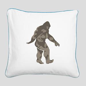 Bigfoot circle game 2 Square Canvas Pillow