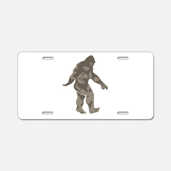 Bigfoot circle game 2 Aluminum License Plate