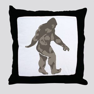 Bigfoot circle game 2 Throw Pillow