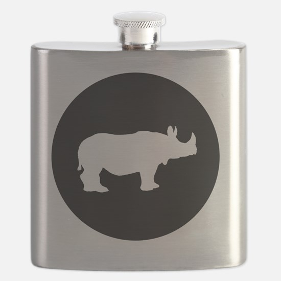 Cool Animal silhouette picture Flask