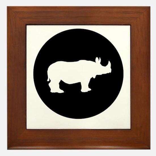 Rhinoceros Framed Tile