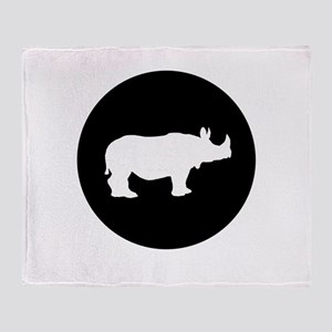 Rhinoceros Throw Blanket