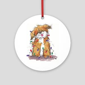 Light String Doggie Ornament (Round)