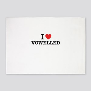 I Love VOWELLED 5'x7'Area Rug