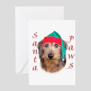 Santa Paws Wire Dachshund Greeting Card
