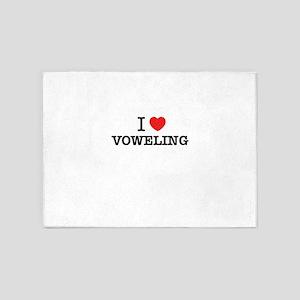 I Love VOWELING 5'x7'Area Rug