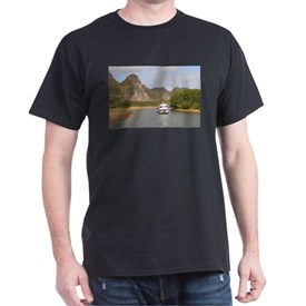 Boats on the Li River, China T-Shirt