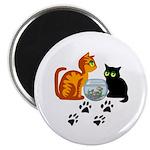 """Fish Bowl Kittys 2.25"""" Magnet (10 pack)"""