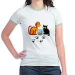 Fish Bowl Kittys Jr. Ringer T-Shirt