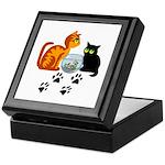 Fish Bowl Kittys Keepsake Box