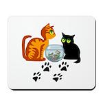 Fish Bowl Kittys Mousepad