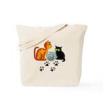 Fish Bowl Kittys Tote Bag