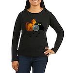 Fish Bowl Kittys Women's Long Sleeve Dark T-Shirt