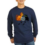Fish Bowl Kittys Long Sleeve Dark T-Shirt