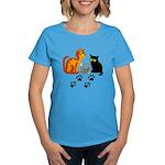 Fish Bowl Kittys Women's Dark T-Shirt