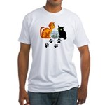 Fish Bowl Kittys Fitted T-Shirt