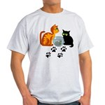 Fish Bowl Kittys Light T-Shirt