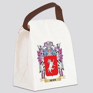 Herm Coat of Arms (Family Crest) Canvas Lunch Bag