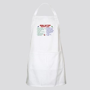 Irish Setter Property Laws 2 BBQ Apron