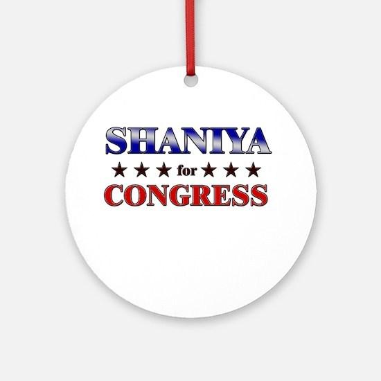 SHANIYA for congress Ornament (Round)