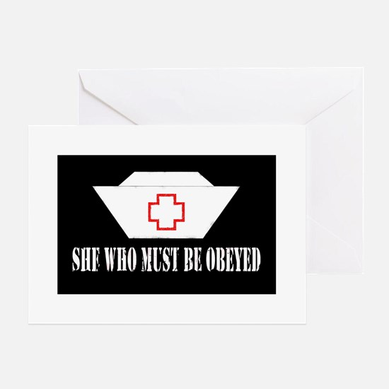 She Who Must Be Obeyed Greeting Cards (Package of