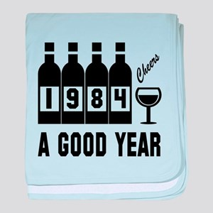 1984 A Good Year, Cheers baby blanket