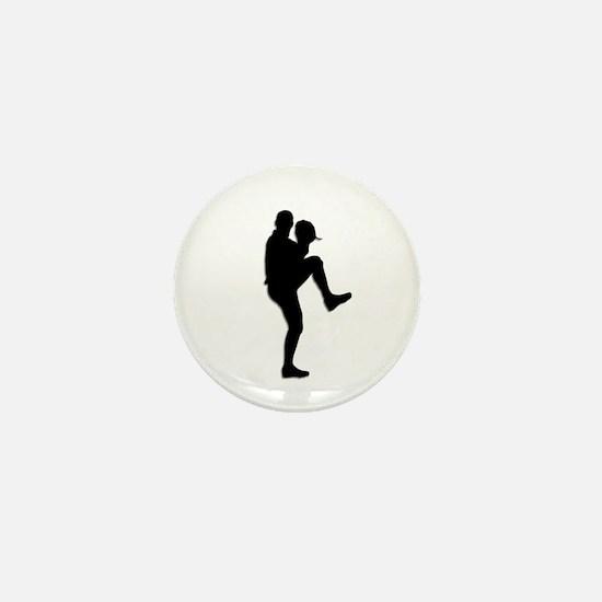 Baseball Pitcher Mini Button