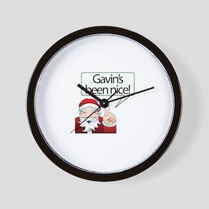 Gavin's Been Nice Wall Clock