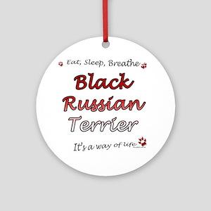 Black Russian Breathe Ornament (Round)
