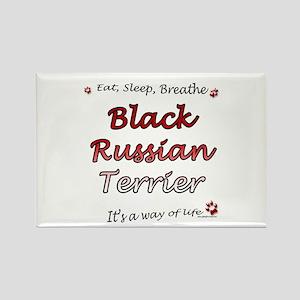 Black Russian Breathe Rectangle Magnet