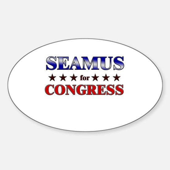 SEAMUS for congress Oval Decal
