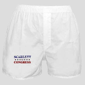SCARLETT for congress Boxer Shorts