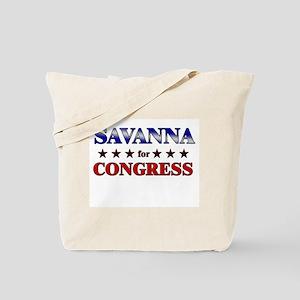 SAVANNA for congress Tote Bag