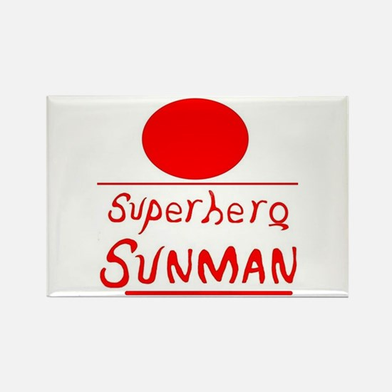 Superhero Sunman Rectangle Magnet Magnets
