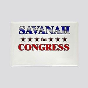 SAVANAH for congress Rectangle Magnet