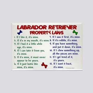 Labrador Retriever Property Laws 2 Rectangle Magne