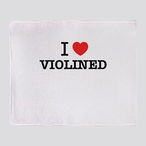 I Love VIOLINED Throw Blanket