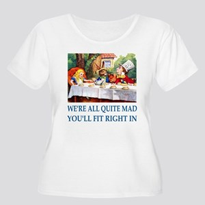 WE'RE ALL QUITE MAD Women's Plus Size Scoop Neck T