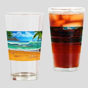 Aloha from Hawaii Drinking Glass