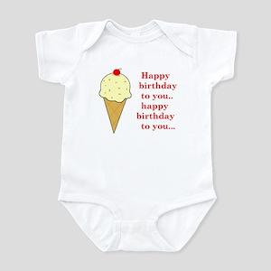 HAPPY BIRTHDAY (ICE CREAM) Infant Bodysuit